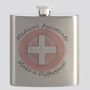 Medical Assistant making a diff PINK ROUND Flask