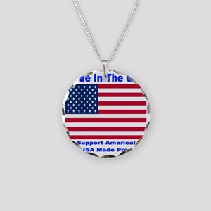 madeinusa_2012a_bluefont_whi Necklace Circle Charm