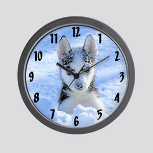 """""""Playing in the snow"""" Wall Clock"""