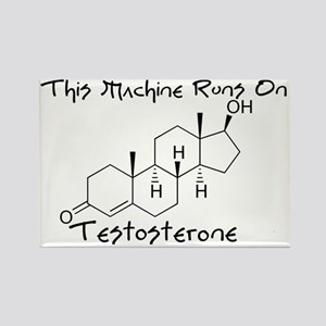 testosterone Rectangle Magnet