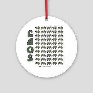 Laos money elephant Round Ornament