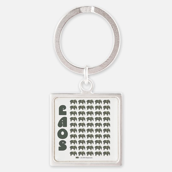Laos money elephant Square Keychain