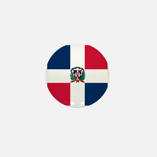 Dominican Republic flag Mini Button