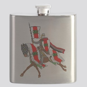 Heraldic Midrealm Cavalry Flask