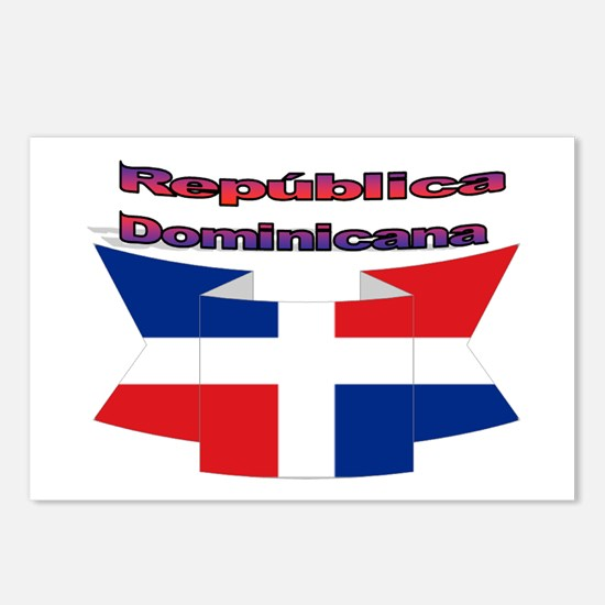 Republica Dominicana ribbon Postcards (Package of