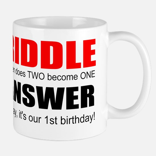 Twins first birthday Mug