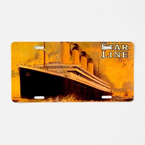 TG GoldPostcard-2 Aluminum License Plate