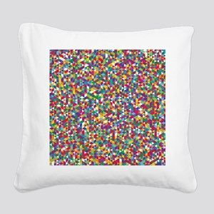 Isometric Duvet Square Canvas Pillow