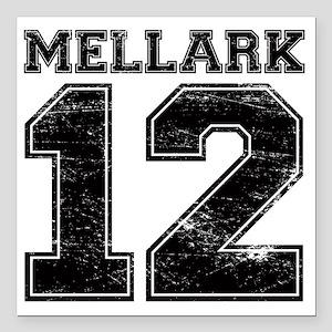 "Dist12_Mellark_Ath Square Car Magnet 3"" x 3"""