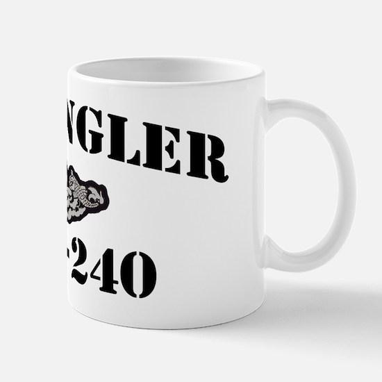 angler ssk black letters Mug
