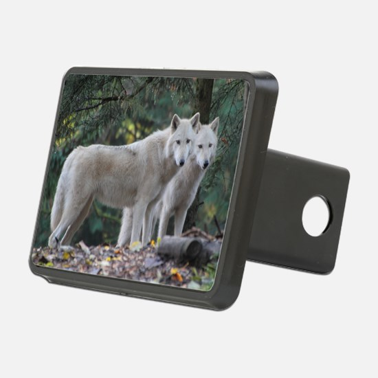 White Wolves Hitch Cover