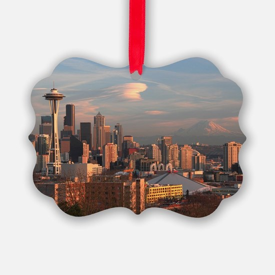 Seattle Space Needle Skyline Ornament