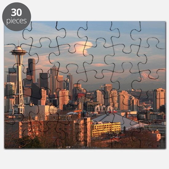Seattle Space Needle Skyline Puzzle