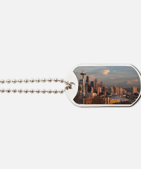 Seattle Space Needle Skyline Dog Tags