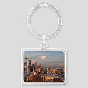 Seattle Space Needle Skyline Landscape Keychain