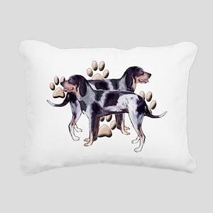 Coonhounds and Paws Rectangular Canvas Pillow