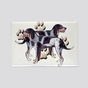 Coonhounds and Paws Rectangle Magnet
