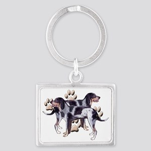 Coonhounds and Paws Landscape Keychain
