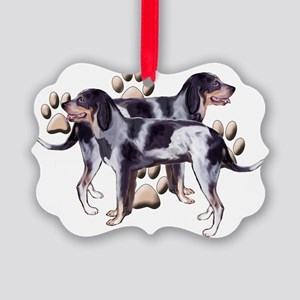 Coonhounds and Paws Picture Ornament