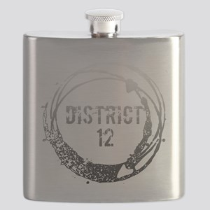 gradient district 12 grunge circle with hear Flask