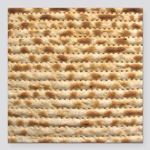 "Matzah Square Car Magnet 3"" x 3"""