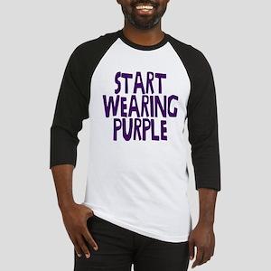 Start Wearing Purple Baseball Jersey