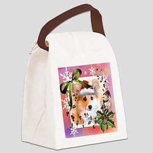 Pembroke Corgi Holiday Canvas Lunch Bag