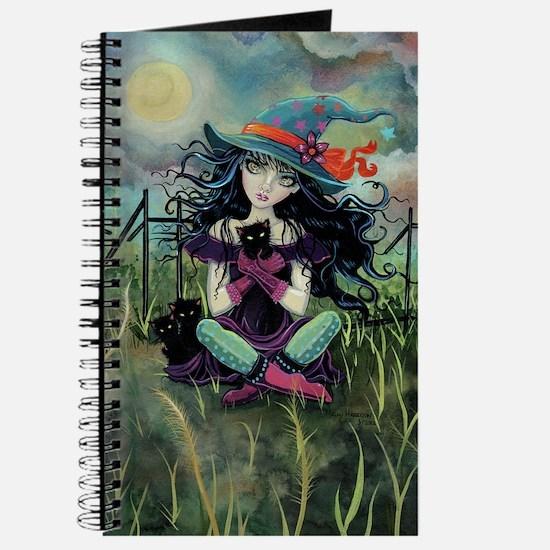 Kitten Witch Halloween Journal