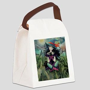 Kitten Witch Halloween Canvas Lunch Bag