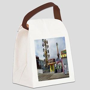 rehoboth beach pixels 4000 Canvas Lunch Bag