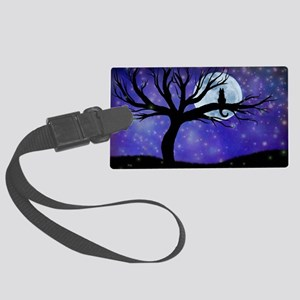 Cosmic Cat Large Luggage Tag