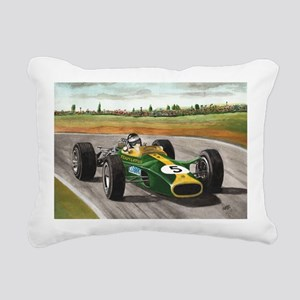 Jim Clark 001 Rectangular Canvas Pillow