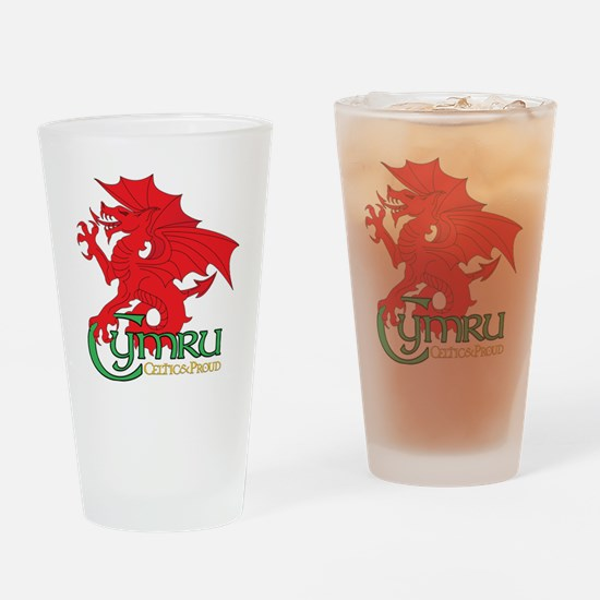 Celtic and Proud Apperal Cymru 2 Drinking Glass
