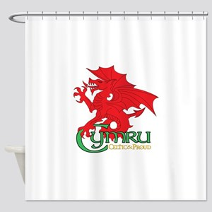 Celtic and Proud Apperal Cymru 2 Shower Curtain