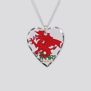 Celtic and Proud Apperal Cymr Necklace Heart Charm