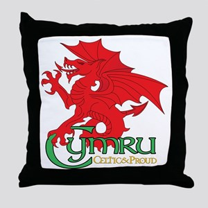Celtic and Proud Apperal Cymru 2 Throw Pillow