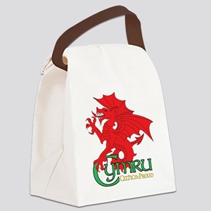 Celtic and Proud Apperal Cymru 2 Canvas Lunch Bag
