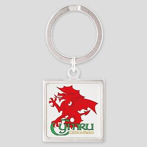 CP Cup Cymru 2 Square Keychain