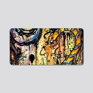 Spaced Out Laptop Skin Aluminum License Plate