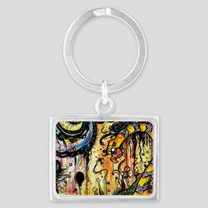 Spaced Out Laptop Skin Landscape Keychain