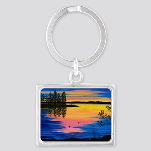 sunlaptop Landscape Keychain