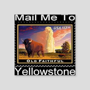 "mailmeto_yellowstone_revers Square Sticker 3"" x 3"""