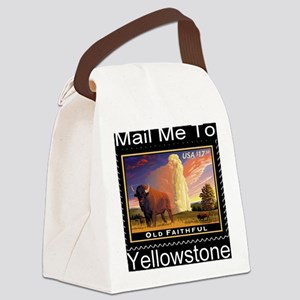 mailmeto_yellowstone_reverse Canvas Lunch Bag