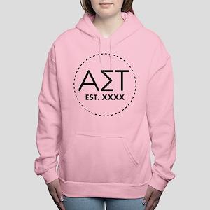 Alpha Sigma Tau Circle Women's Hooded Sweatshirt