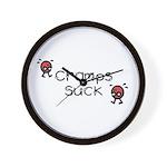 Cramps Suck Wall Clock