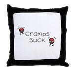 Cramps Suck Throw Pillow