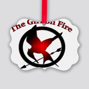 girl on fire Picture Ornament