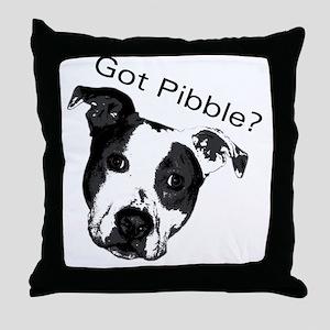 GotPibble Throw Pillow