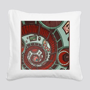 spiral stairs Square Canvas Pillow