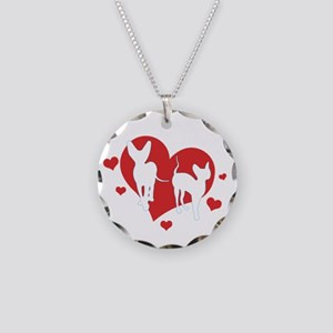 HH_logo_White for dark shirt Necklace Circle Charm